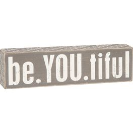 "Primitives by Kathy ""Be.YOU.tiful"" Wood Box Sign, , large"