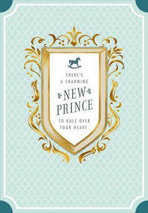His Royal Sweetness Baby Congratulation Card