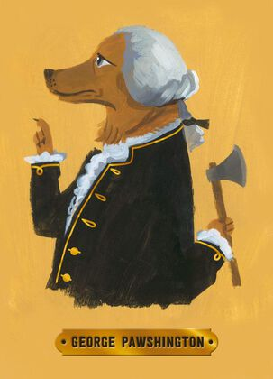 George Washington Dog Just Because Card