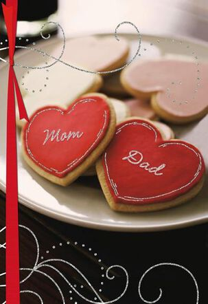 Mom and Dad Cookies Valentine's Day Card