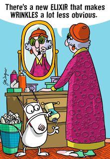 Maxine Anti-Aging Solution Birthday Card,
