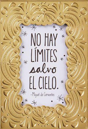 No Hay Límites Salvo El Cielo Spanish Language Birthday Card