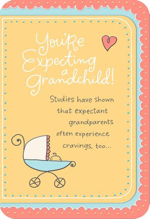 Baby Stroller Expectant Grandparents Congratulations Card
