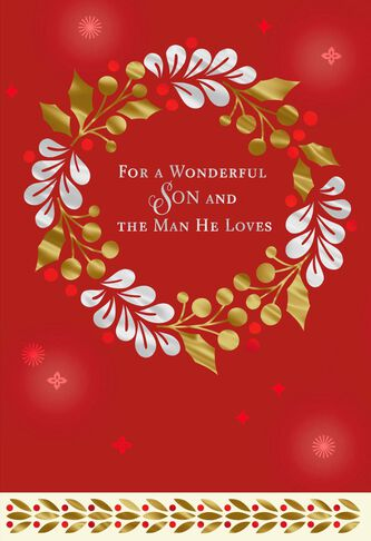 For a wonderful son and the man he loves christmas card greeting for a wonderful son and the man he loves christmas card m4hsunfo