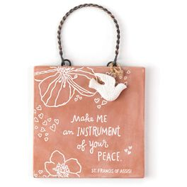 Make Me an Instrument St. Francis of Assisi Sentiment Plaque, , large