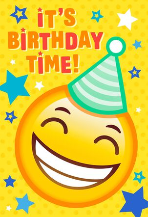 Emoji Door Hanger Birthday Card