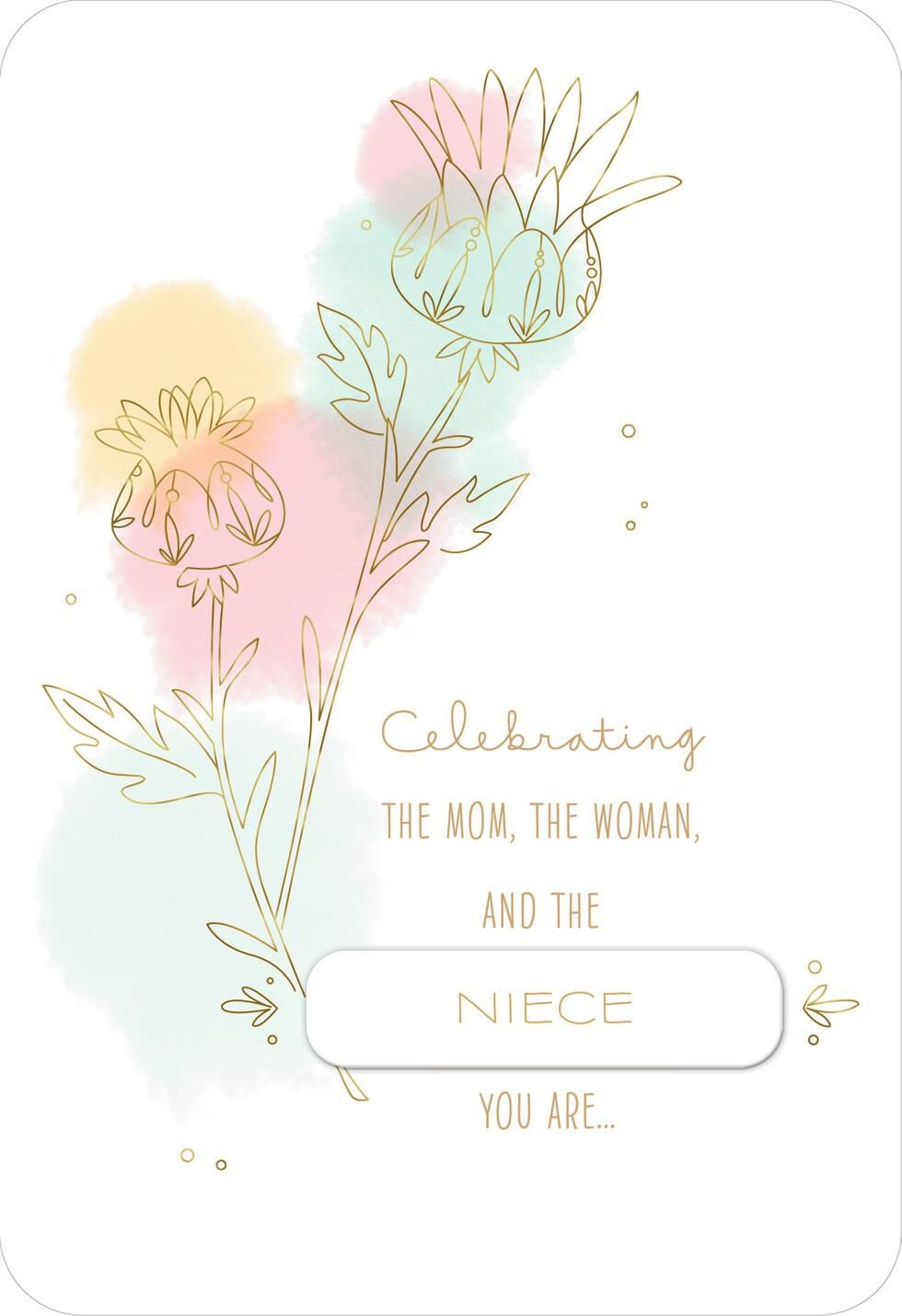 Pastel Flower Sketch Mother's Day Card To Personalize For Anyone  Greeting  Cards  Hallmark