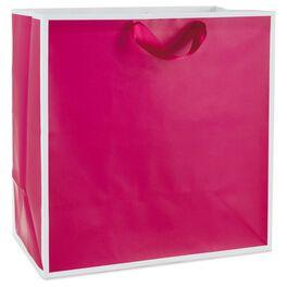 """Raspberry Extra-large Gift Bag, 15.5"""", , large"""