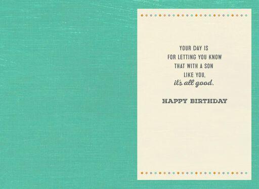 It's All Good Son Birthday Card,