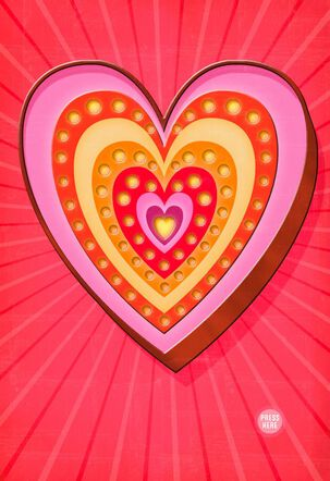 Marquee Heart Musical Valentine's Day Card