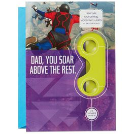 Soar Above the Rest Skydiving VR Father's Day Card, , large