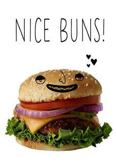 Nice Buns Blank Card,