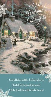Thomas Kinkade Happy Moments Money Holder Christmas Card,