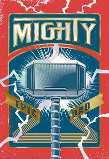 Marvel Thor Mjölnir Epic Dad Father's Day Card,