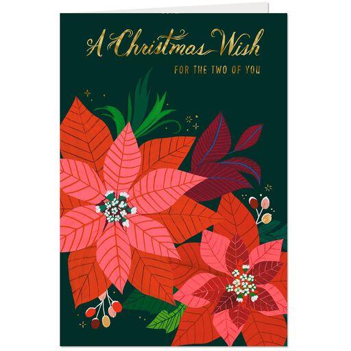 Classic Poinsettia Christmas Card For Both