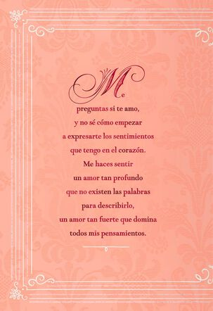Powerful Love Spanish-Language Valentine's Day Card for Her