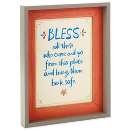Bless All Who Come and Go Framed Art, English, , large