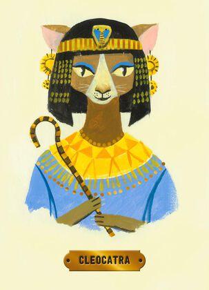 Cleopatra Cat Birthday Card