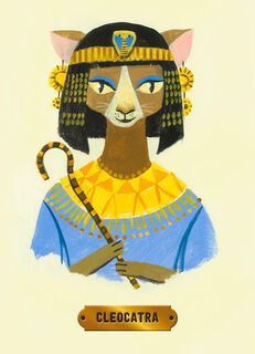 Cleopatra Cat Birthday Card,