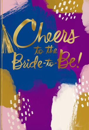 Cheers to Bride-to-Be Bridal Shower Card