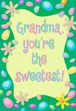 Sweetest Grandma Easter Card