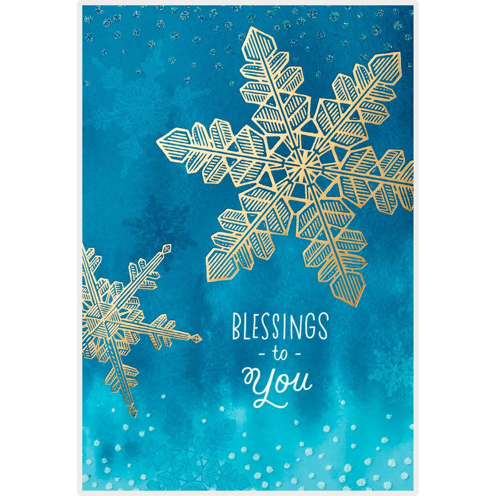 Snowflakes and Blessings Christmas Cards, Box of 16 - Boxed Cards ...