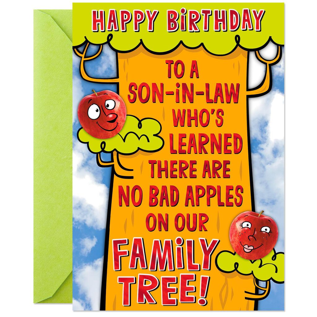 Just A Few Nuts Funny Pop Up Birthday Card For Son In Law