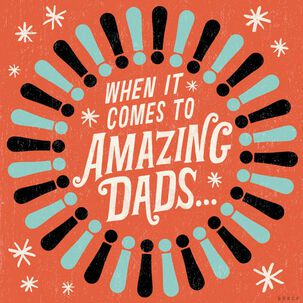 One Amazing Dad Musical Father's Day Card