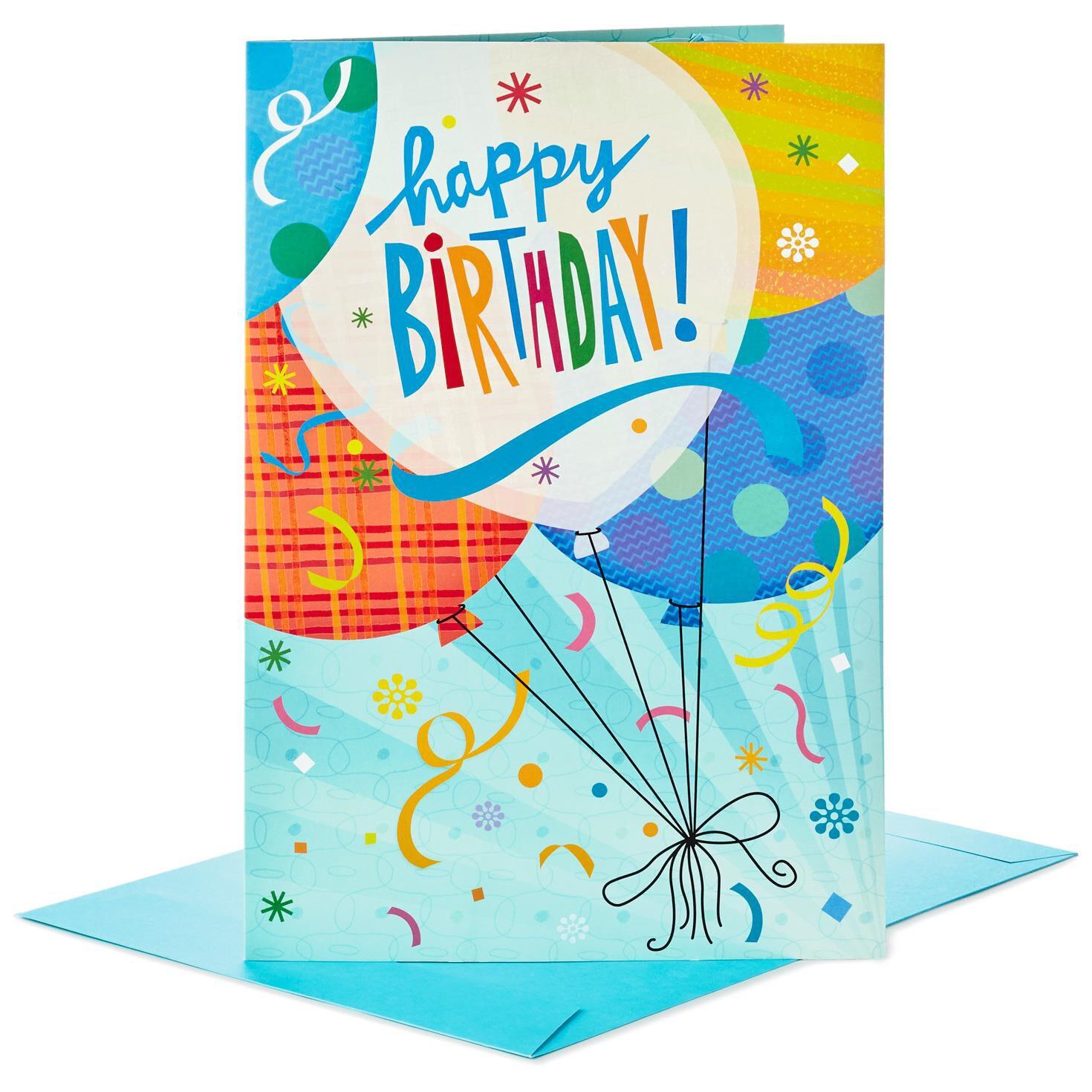 "Balloons for Fun Pop Up Jumbo Birthday Card 16"" Greeting Cards"