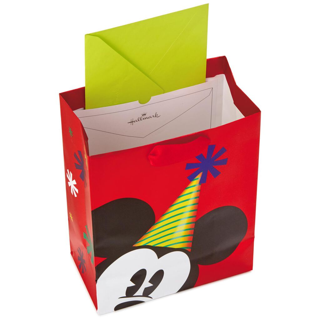 Mickey Mouse In Party Hat Medium Gift Bag 95