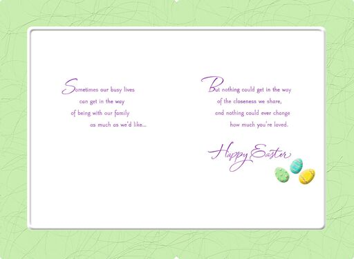 Daughter and Son-in-Law Egg Flower Bouquet Easter Card,