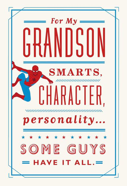 Marvel Spider Man You Have It All Birthday Card For Grandson