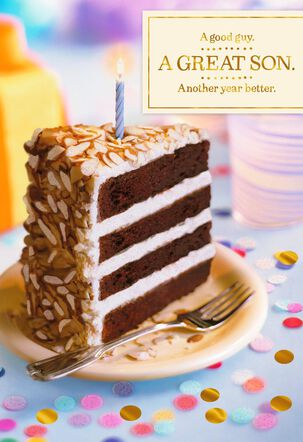 Slice of Cake Birthday Card for Son