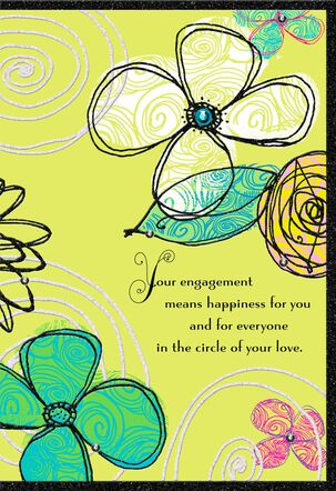 Circle of Love Religious Engagement Wedding Card