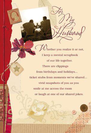 Scrapbook of Memories Anniversary Card for Husband
