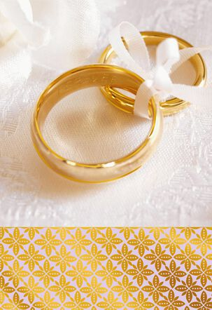 Forever Gold Rings Blank Wedding Card