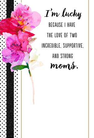 Same Sex Mother's Day Card for Two Moms