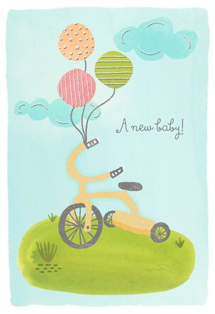 Tricycle New Baby Congratulations Card