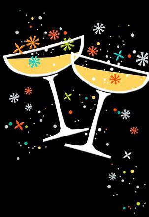 Champagne Toast Blank Card
