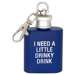 About Face I Need a Little Drinky Drink Keychain Flask, , large