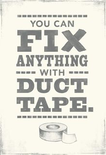 Duct Tape and Curse Words Funny Father's Day Card,
