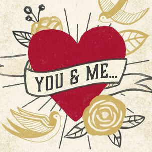 You & Me Tattoo Musical Valentine's Day Card