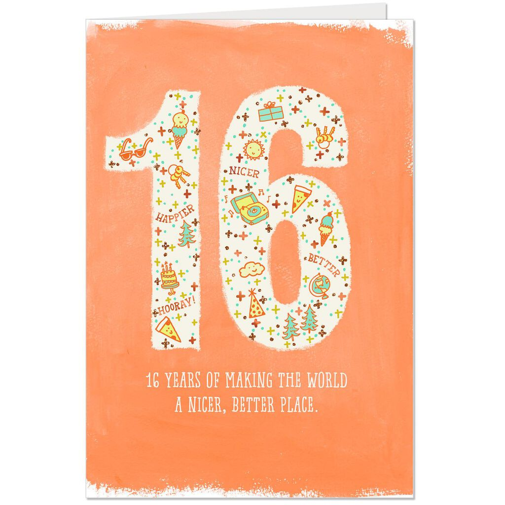 A Big Reason To Celebrate 16th Birthday Card
