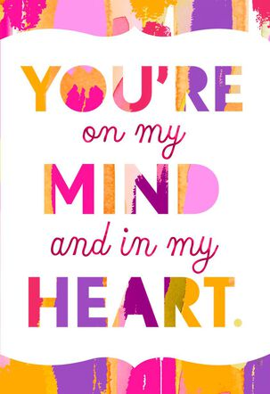Heart and Mind Colorful Romantic Love Card
