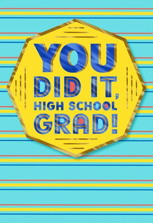 You Did It! Graduation Card for High School Graduate
