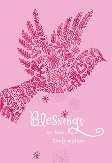 Pink Dove Blessings on Your Confirmation Card for Her,