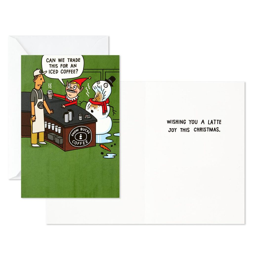 Coffee Christmas Cards.Santa And Friends Assorted Funny Christmas Cards Box Of 24