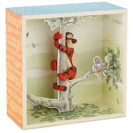 Tigger in Tree Shadow Box With Figurine, , large
