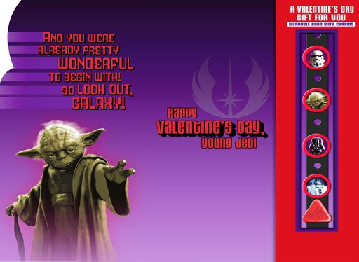 Star Wars™ Darth Vader™ Valentine's Day Card With Link'emz Wristband,