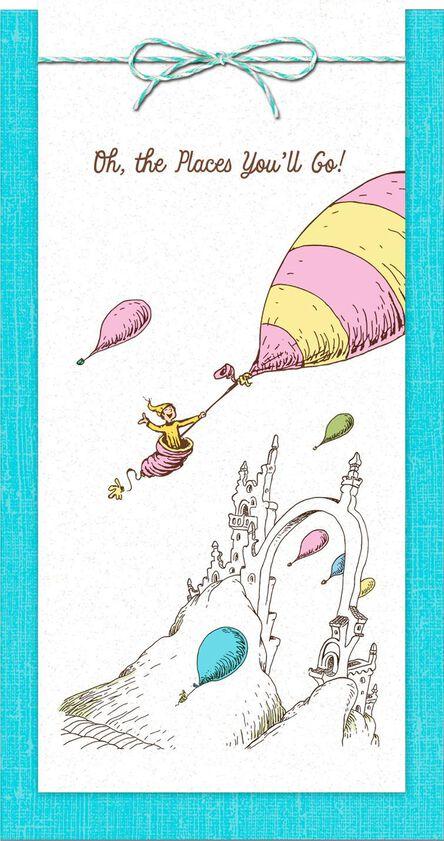 Dr Seuss Oh The Places You Ll Go Money Holder Graduation Card